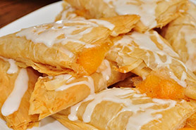 Tasty looking peach turnovers