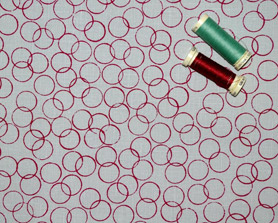 Hand screen printed circles fabric from Colette Moscrop