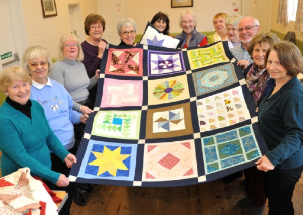 Quilt donated to St Nicholas Hospice